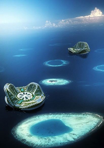 2 floating lilypad cities by Vincent Callebeaut architects. A floating ecopolis