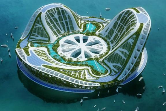 floating lilypad city by vincentcallebeaut architects. A floating ecopolis