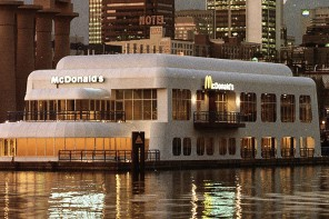 Mc Donalds floating Mc Barge
