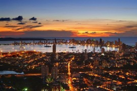 Cartagena, Colombia by nightfall