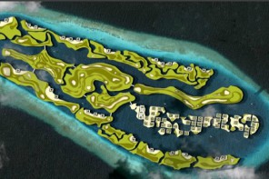 the maldives floating golf course