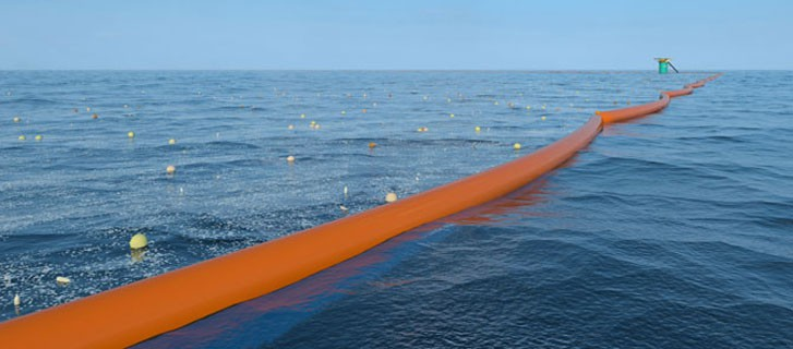 The ocean cleanup floating tube