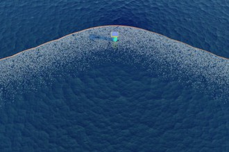 the ocean cleanup project aerial view