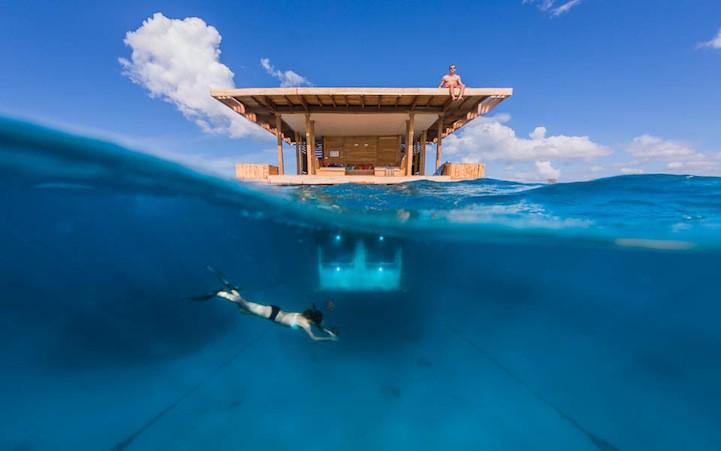 underwater room half underwater Aquatic Urbanism