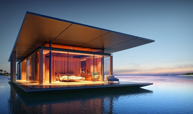 Floating house by Dymitr Malcev