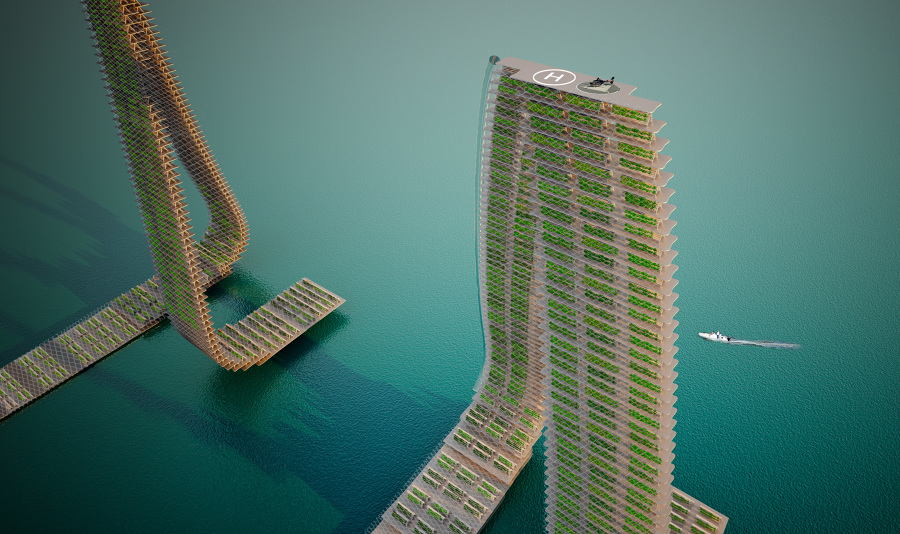 Floating farms are responsive agriculture