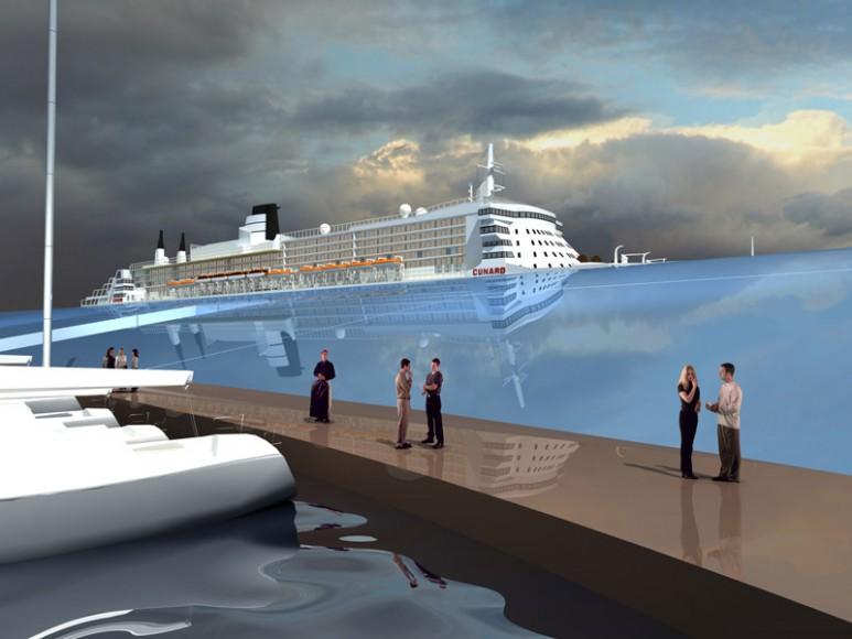 floating cruise terminal detailed view