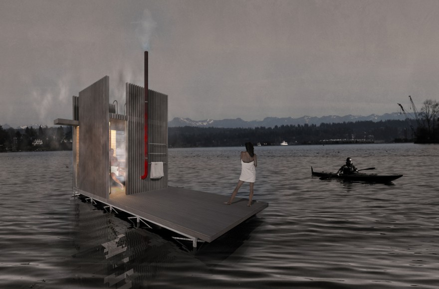 floating desing sauna seattle