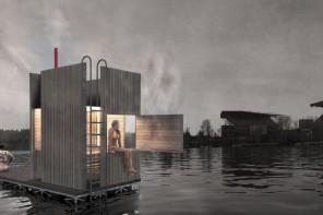 Floating sauna Seattle impression