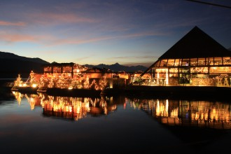 Christmas market on Millstatt lake at bar Kap4613