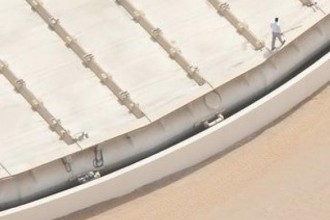 Novaton floating solar Island aerial view