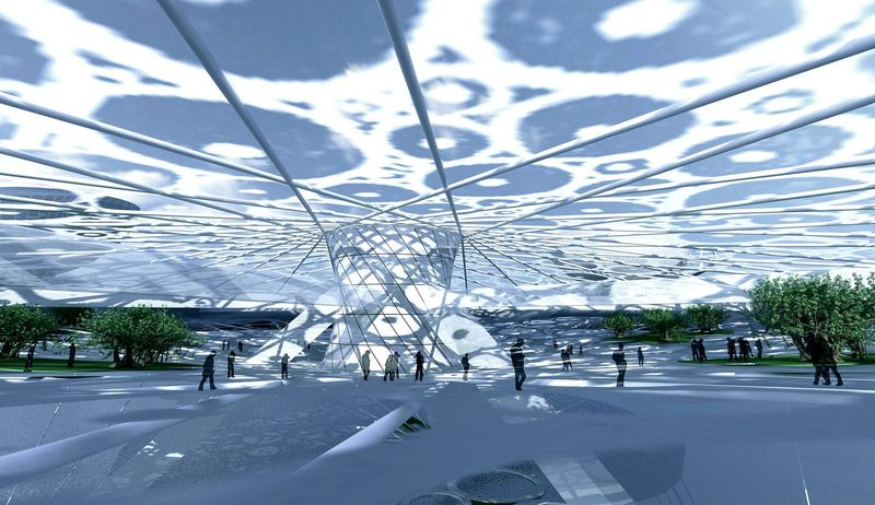 Aerotel hotel concept floating on water and air 04