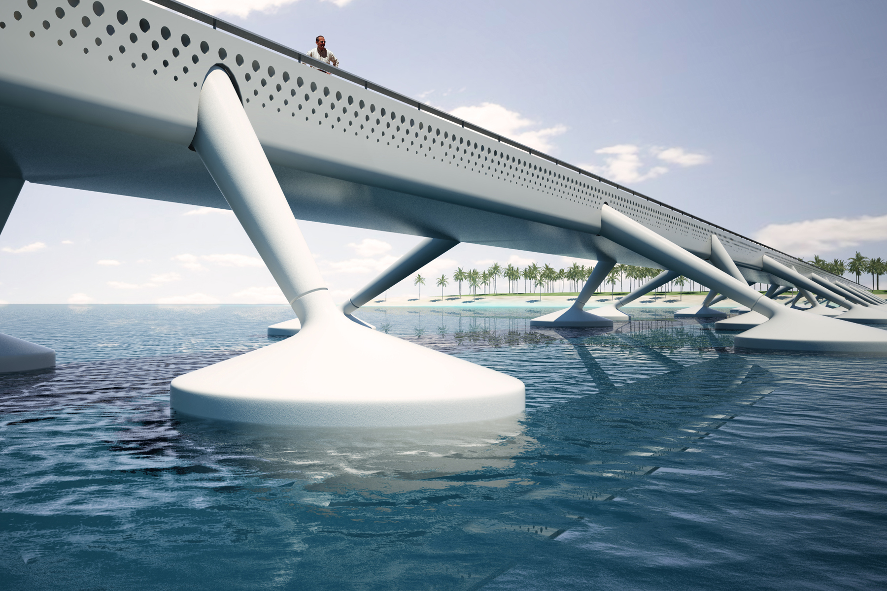 conncept floating bridge maldives detailed view aquatic urbanism. Black Bedroom Furniture Sets. Home Design Ideas