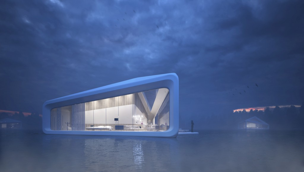 Nessy Floating hotel concept in Norway