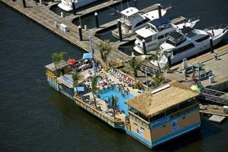 Tiki barge baltimore pool club