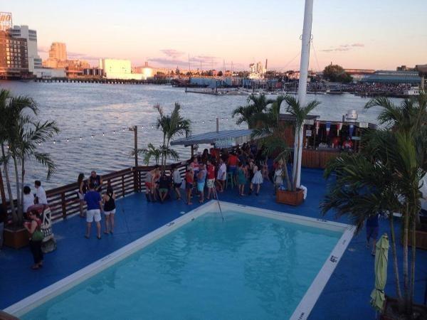 Tiki barge pool club baltimore