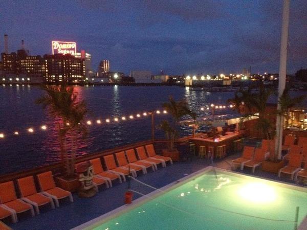Tiki barge baltimore pool club
