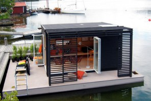 Floating Kenjo cabin detailed view