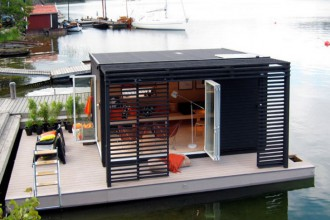 Floating Kenjo cabin detailed view