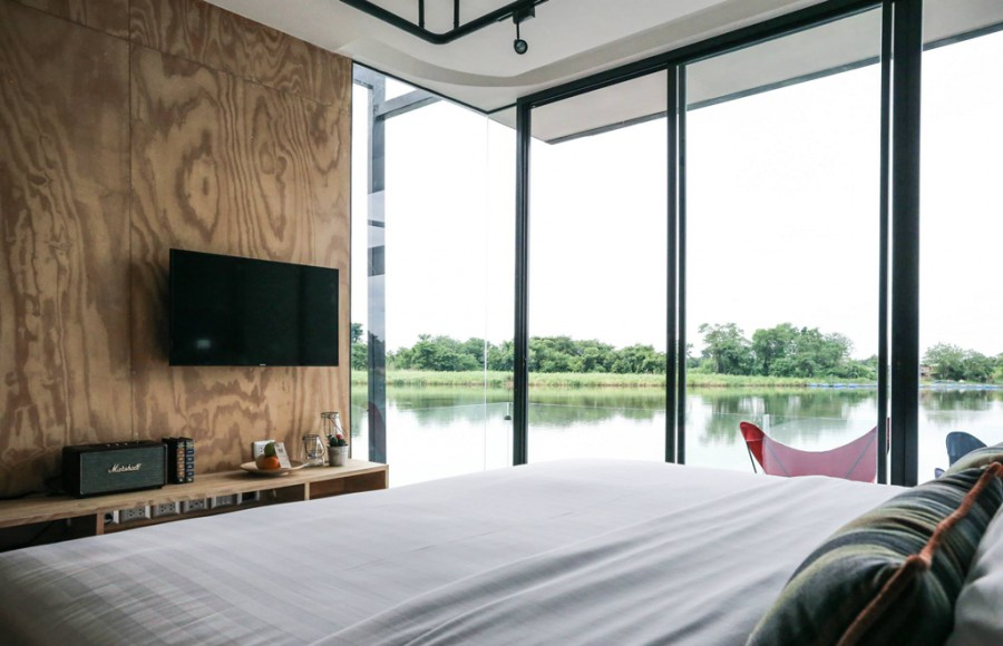 X2 River Kwai Resort x float Thailand Bedview