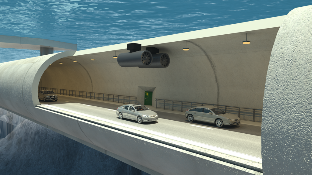 Norway floating tunnel or sub-sea bridge