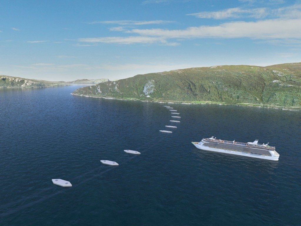 Norway's floating tunnel or sub sea bridge